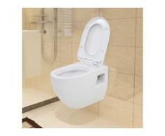 vidaXL Wand-WC Keramik Weiß