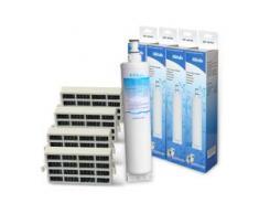 4x ECOPURE EFF-6015A Wasserfilter f. Whirlpool 4396510 + 4 Hygienefilter