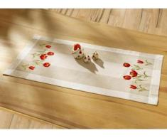 Tisch- und Raumdekoration mit Tulpen-Motiven, Größe 102 (Läufer, 40/ 85 cm), Creme