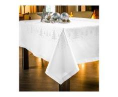 Kreuzstich-Tischdecken - Tannenbäume, Tischdecke, 140 x 170 cm - Weiß