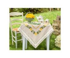 Tischdecke, Tischläufer und Kissen - Gelbe Rosen, Tischläufer