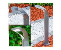 Wegeleuchte Gomez LED Grau, 1-flammig - Zeitlos - Außenbereich - versandfertig innerhalb von 2-4 Werktagen