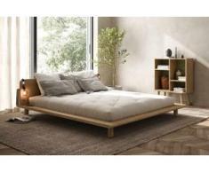 Bett in Kiefer massiv mit 2 Lampen, inkl. Lattenrahmen, Liegefläche 180 x 200 cm