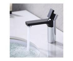 Design Wasserhahn Bad Armatur | Osmose Waschtischarmatur Einhebelmischer Mischbatterie | Waschbeckenarmatur für Badezimmer Waschbecken, Schwarz