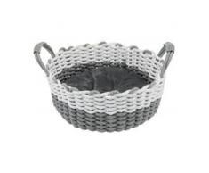 Trixie Korb Nabou, gewebt grau/weiß für Hunde, Durchmesser: 45 cm