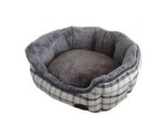 Nobby Hundebett oval Checker hellgrau