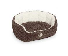 Nobby Hundebett oval Neiku braun/weiß, Maße: 45 x 40 x 19 cm