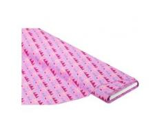 "Baumwollstoff ""Wimpelkette"", rosa-color"