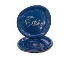 "Teller ""Happy Birthday"" in Blau"