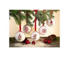 """buttinette Stickpackung """"Weihnachtskugeln Wichtel"""", 5er-Set"""