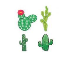 """buttinette Applikationen """"Kaktus"""", Größe: 2 - 6 cm, Inhalt: 4 Stück"""