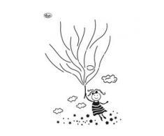 """Blob-Schablone """"Luftballon-Mädchen"""