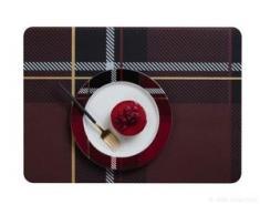 Tischset, Tartan rot