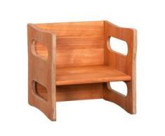 Kinderstuhl aus Buchenholz ab 12 Monaten, mitwachsend, höhenverstellbar, auch als Kindertisch verwendbar