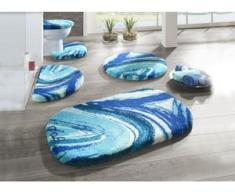 Designer-Badgarnitur des Künstlers Prof. Luigi Colani, Größe 112 (Motiv-Deckelbezug mit Kordel, 47/ 50 cm), Blau