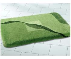 Badgarnitur in verschiedenen Farben, Größe 112 (WC-Deckelbezug mit Kordel), Grün