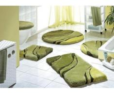"""Kleine Wolke"""" Badgarnitur in verschiedenen Farben, Größe 112 (WC-Deckelbezug mit Kordel), Grün"""