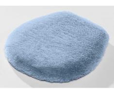 """Kleine Wolke"""" Badgarnitur in verschiedenen Farben, Größe 112 (WC-Deckelbezug mit Kordel), Blau"""
