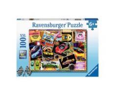 Kinderpuzzle im XXL-Format 100 Teile, Rennwagen Pinnwand