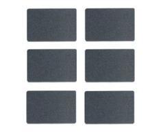 Platzset, Zeller Present (Set, 6-tlg.) schwarz Platzsets Tischwäsche Tischdecken