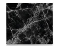 Zeller Present Herdblende-/Abdeckplatte Marmor, ESG-Glas, (1-tlg.) schwarz Zubehör für Herde Kochfelder Haushaltsgeräte Herdabdeckplatten