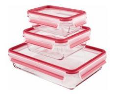 Emsa Frischhaltedose CLIP & CLOSE (3-tlg.) farblos Aufbewahrung Küchenhelfer Haushaltswaren Lebensmittelaufbewahrungsbehälter
