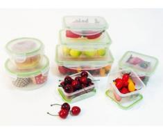 KING Vorratsdose (8-tlg.) farblos Aufbewahrung Küchenhelfer Haushaltswaren Lebensmittelaufbewahrungsbehälter