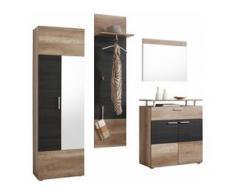 trendteam Garderoben-Set Polo (Set, 4-tlg) braun Garderoben-Sets Garderoben Kastenmöbel-Sets