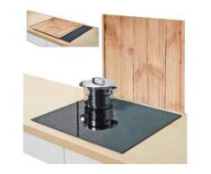 Zeller Present Herdblende-/Abdeckplatte Wood, Glas, (1-tlg.) beige Zubehör für Herde Kochfelder Haushaltsgeräte Herdabdeckplatten