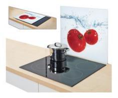 Zeller Present Herdblende-/Abdeckplatte Tomato Splash, Glas, (1-tlg.) weiß Zubehör für Herde Kochfelder Haushaltsgeräte Herdabdeckplatten