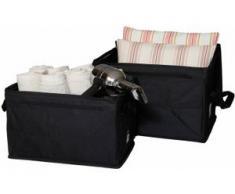 Home affaire Faltbox Nylon schwarz Boxen Truhen, Kisten Körbe Schlafzimmer Aufbewahrungsboxen