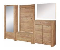 GERMANIA Garderoben-Set GW-Castera (Set, 5-tlg) beige Kompaktgarderoben Garderoben Kastenmöbel-Sets