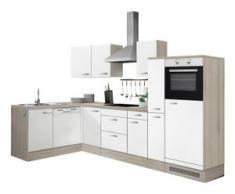 OPTIFIT Winkelküche Faro weiß Küchenzeilen ohne Geräte -blöcke Küchenmöbel Arbeitsmöbel-Sets