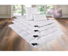 Daunenbettdecke + Kopfkissen, Lea, Hanse by RIBECO, (Set) weiß Daunendecke Bettdecken Bettdecken, Kopfkissen Unterbetten Bettwaren-Sets