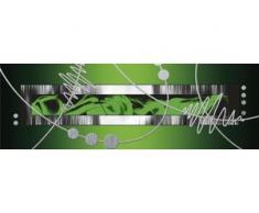 Home affaire Leinwandbild Jule: Silber abstrakt auf Grün grün Leinwandbilder Bilder Bilderrahmen Wohnaccessoires