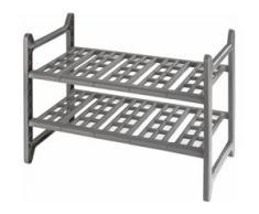 WENKO Ablageregal Flexi grau Küchen-Standregale Küchen-Regale Küchenmöbel Regale