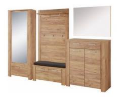 GERMANIA Garderoben-Set (Set, 6-tlg) beige Kompaktgarderoben Garderoben Kastenmöbel-Sets