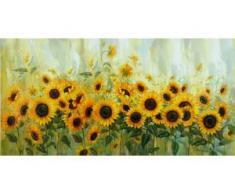 Home affaire Leinwandbild Prieur: Sonnenblumenwiese gelb Kunstdrucke Bilder Bilderrahmen Wohnaccessoires