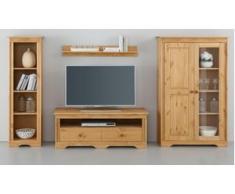 Home affaire Wohnwand Sofia (Set, 4-tlg) beige Holz Wohnwände Schränke Kastenmöbel-Sets