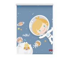 Seitenzugrollo Klemmfix Digital Astronaut, LICHTBLICK, verdunkelnd, ohne Bohren, freihängend blau Kinder Kinderzimmer-Rollos Rollos Jalousien Rollo