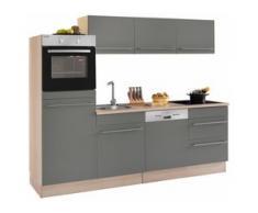OPTIFIT Küchenzeile Bern, Breite 240 cm mit höhenverstellbaren Füßen grau Küchenzeilen ohne Geräte -blöcke Küchenmöbel Arbeitsmöbel-Sets