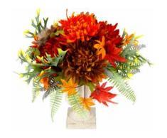 Kunstpflanze Chrysanth./Dahlie im Pokal 31 cm (1 Stück) rot Kunstblumen Kunstpflanzen Wohnaccessoires
