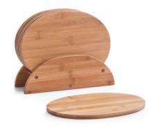 Zeller Present Frühstücksbrett Bamboo, Bambus, (Set, 7-tlg.) braun Frühstücksset Eierbecher Geschirr, Porzellan Tischaccessoires Haushaltswaren Schneidebretter