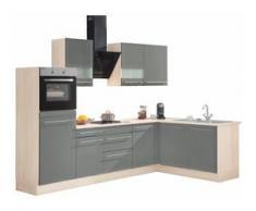 OPTIFIT Winkelküche Bern, ohne E-Geräte, Stellbreite 285 x 175 cm grau L-Küchen Küchenzeilen -blöcke Küchenmöbel Arbeitsmöbel-Sets