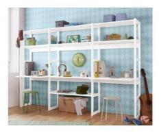Hoppekids Jugendzimmer-Set Skagen (Set, 20-tlg) weiß Regalsysteme Büroregale Büromöbel Schlafzimmermöbel-Sets