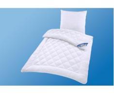 Microfaserbettdecke, Lia, RIBECO, (2-tlg.) weiß Microfaserbettdecke Bettdecken Bettdecken, Kopfkissen Unterbetten Bettdecke