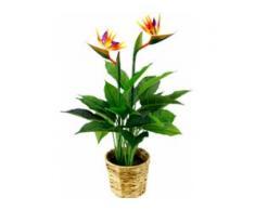 Kunstpflanze Strelitzienpflanze in Wasserhyazinthentopf (1 Stück) orange Künstliche Zimmerpflanzen Kunstpflanzen Wohnaccessoires