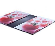 Zeller Present Schneide- und Abdeckplatte Tomate, ESG-Sicherheitsglas, (Set, 2-tlg.) rot Zubehör für Herde Kochfelder Haushaltsgeräte Herdabdeckplatten