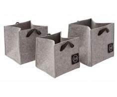 Guido Maria Kretschmer Home&Living Aufbewahrungsbox Keila grau Boxen Truhen, Kisten Körbe Schlafzimmer Aufbewahrungsboxen