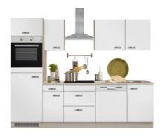 OPTIFIT Küchenzeile Faro EEK B weiß Küchenzeilen mit Geräten -blöcke Küchenmöbel Arbeitsmöbel-Sets